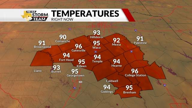 Waco Current Temps