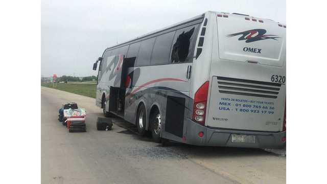 Bus fire delays traffic on Interstate 35
