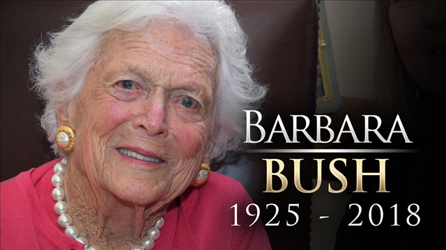 Hundreds in College Station honored Barbara Bush