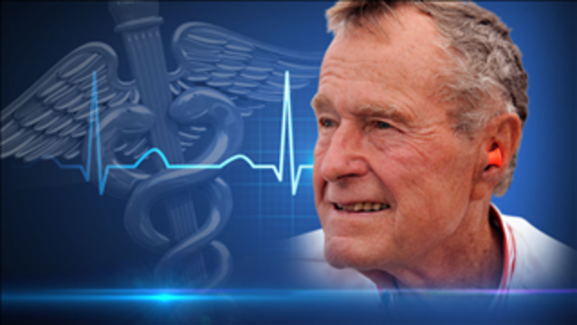 Former president George H.W. Bush discharged from hospital