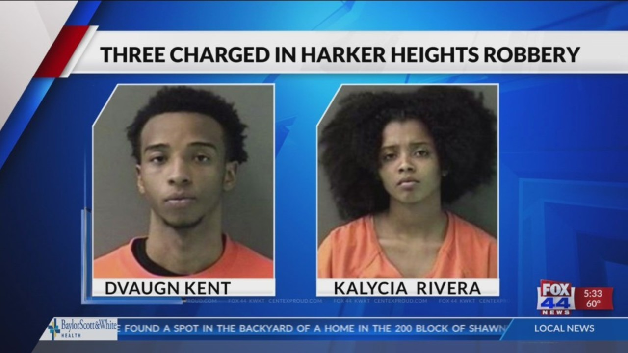 Three charged in Harker Heights robbery