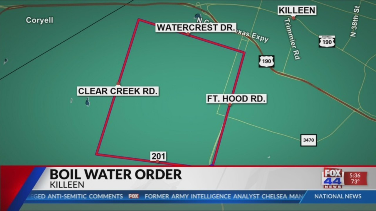 Killeen Boil Water Notice affecting several schools